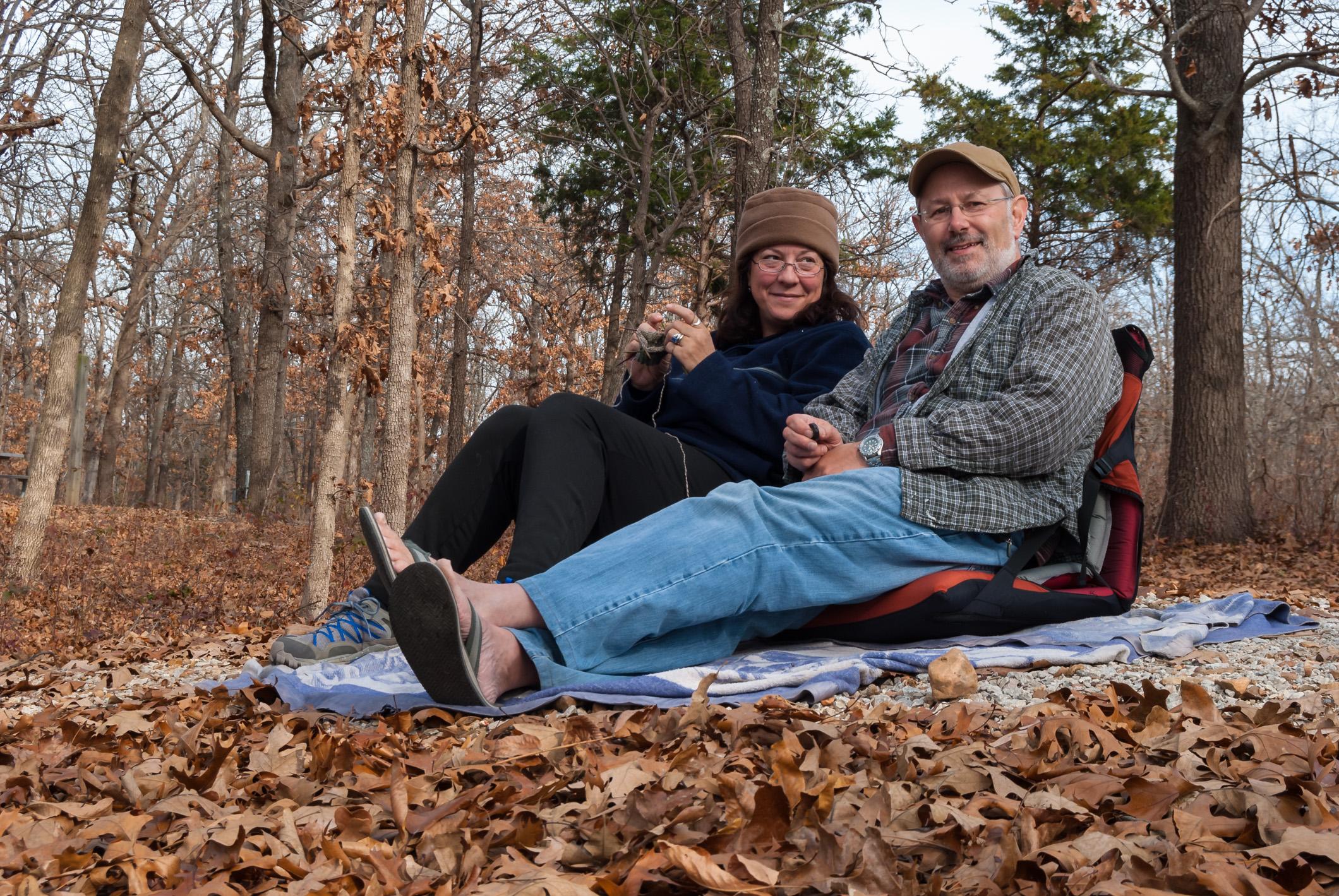 Gary and Ginger Allman at Truman Lake, Missouri, wildlife and lake watching
