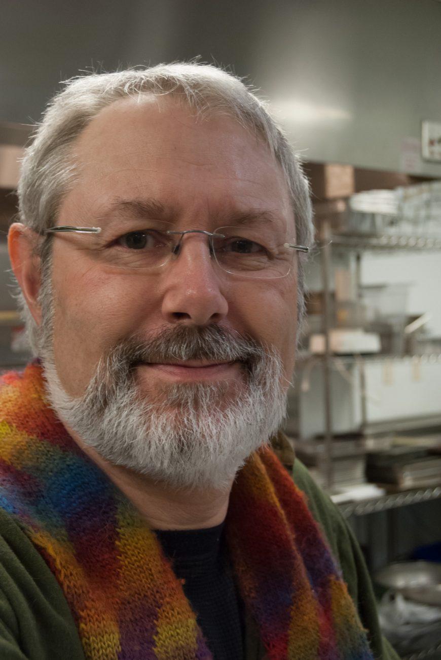 Gary in the parish hall kitchen