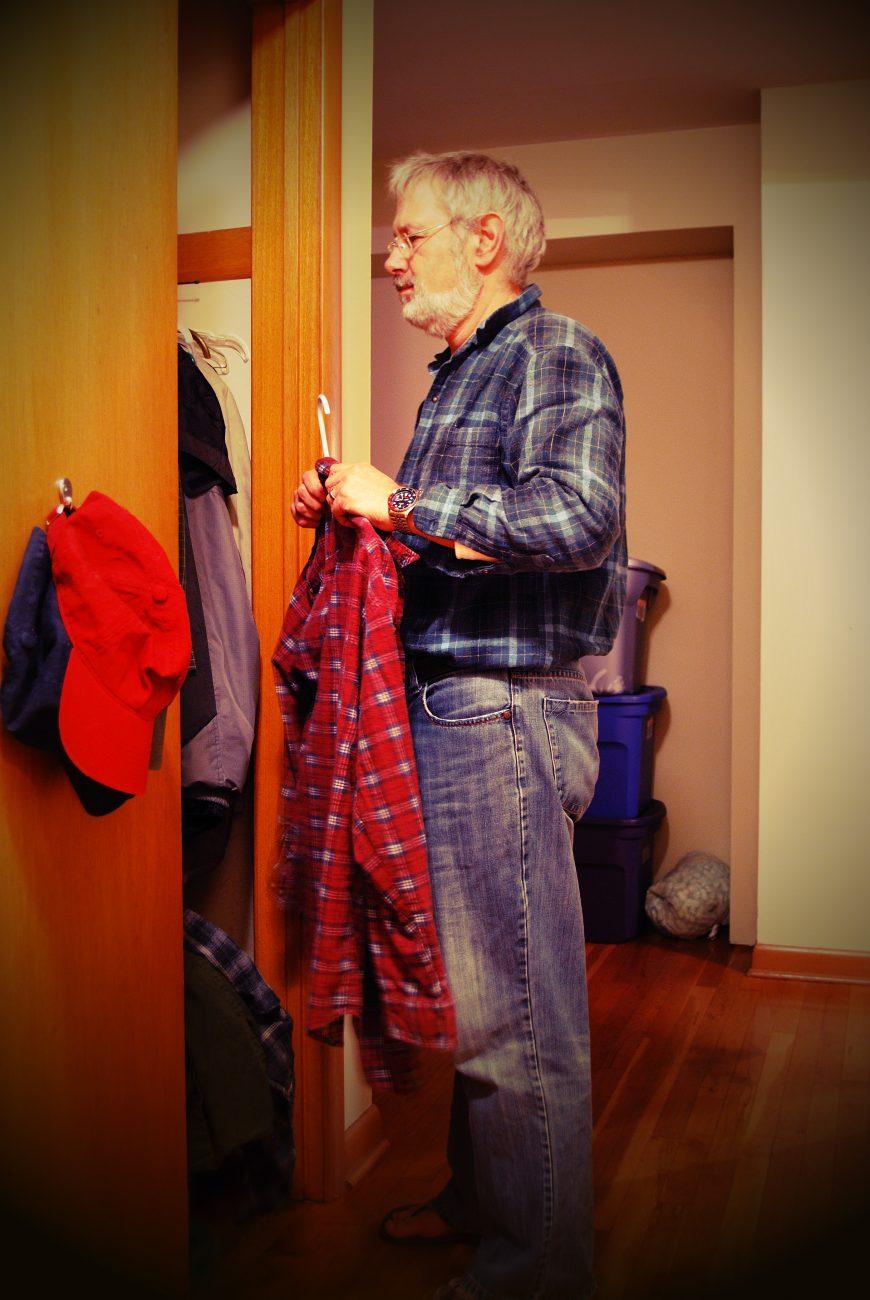 Putting my washing away by Gary Allman