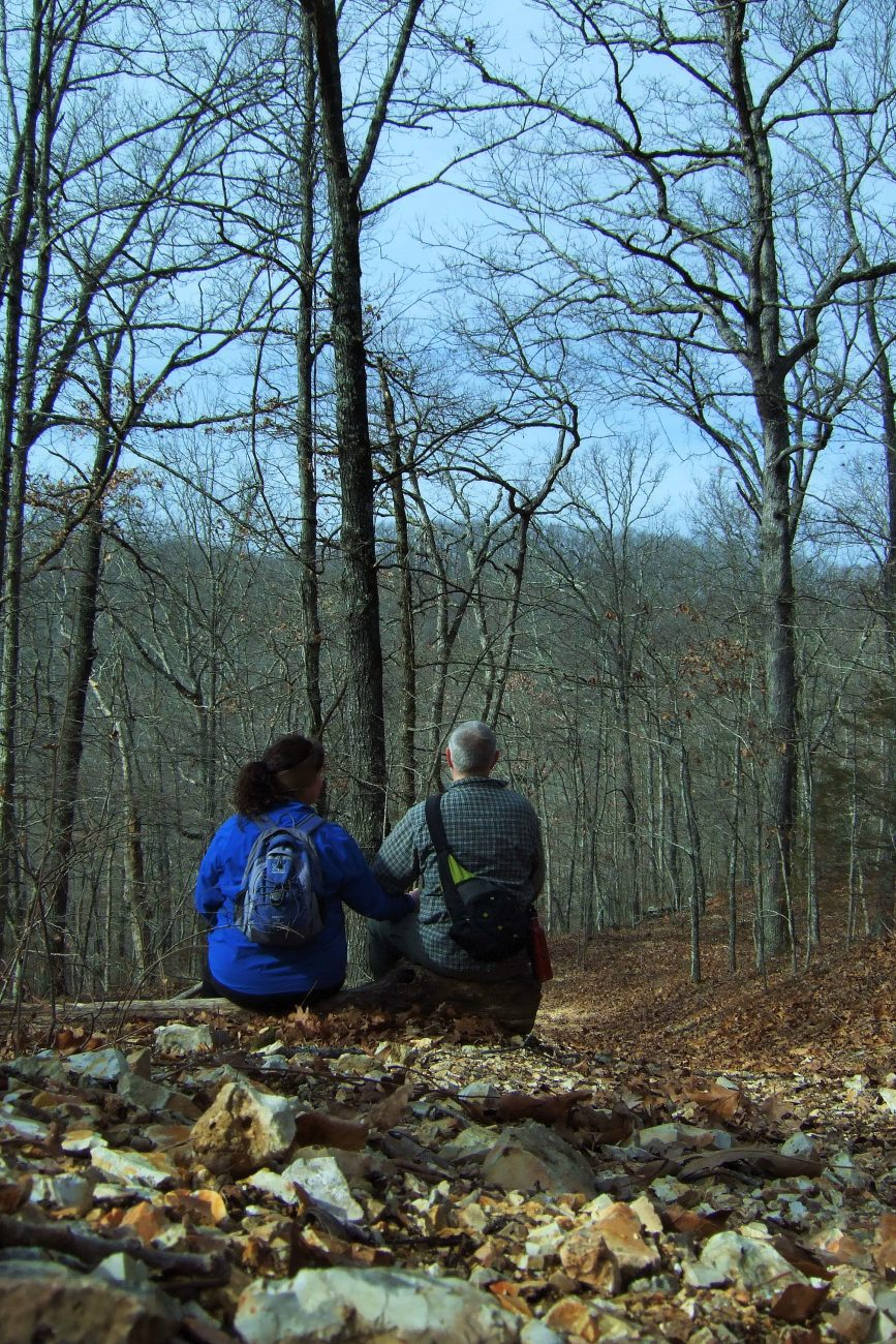Halfway up the first hill - Busiek State Forest & Wildlife Area by Gary Allman