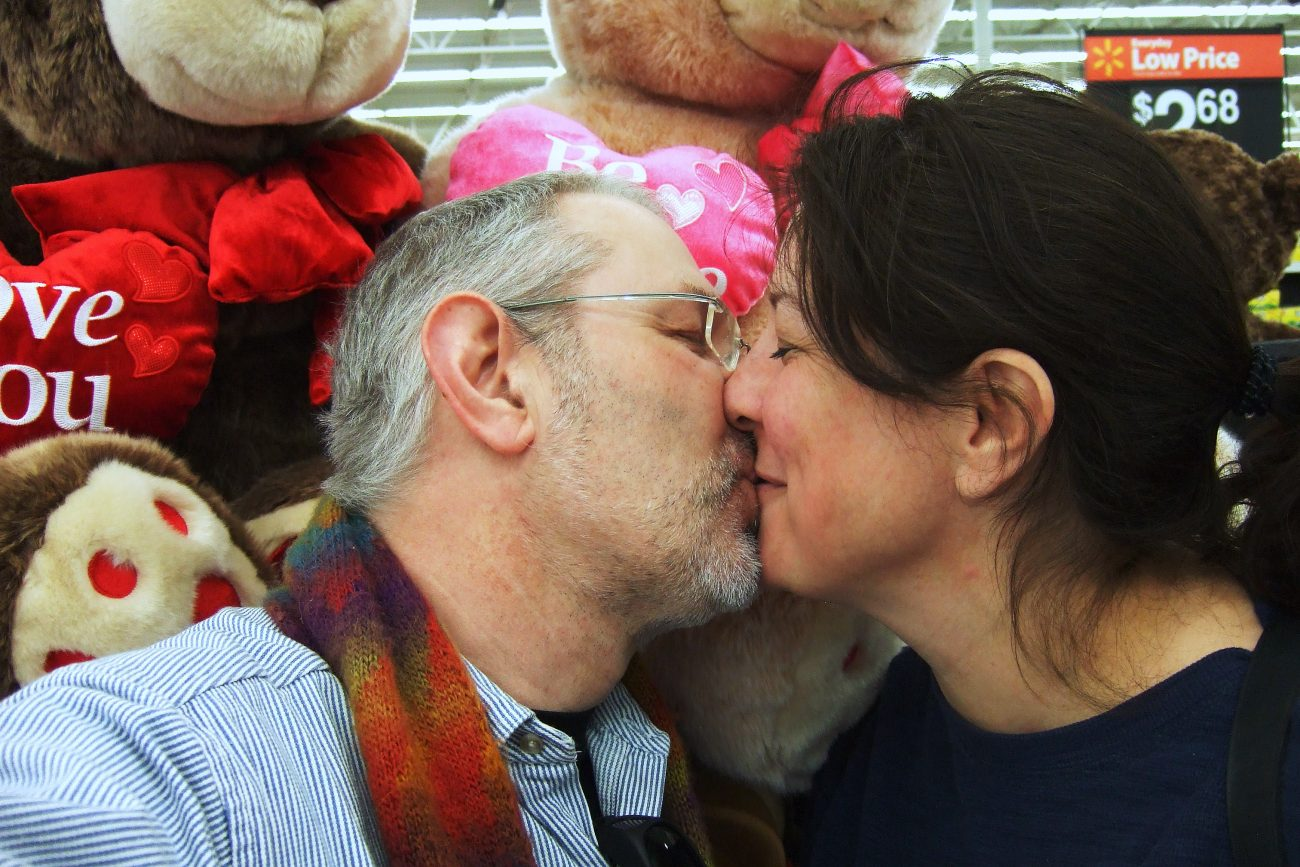 Gary and Ginger being nauseating in Walmart on Saint Valentine's Day by Gary Allman