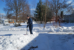 Clearing snow from the drive