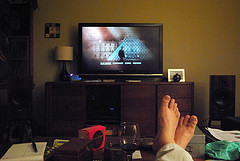 Feet up watching The Da Vinci Code