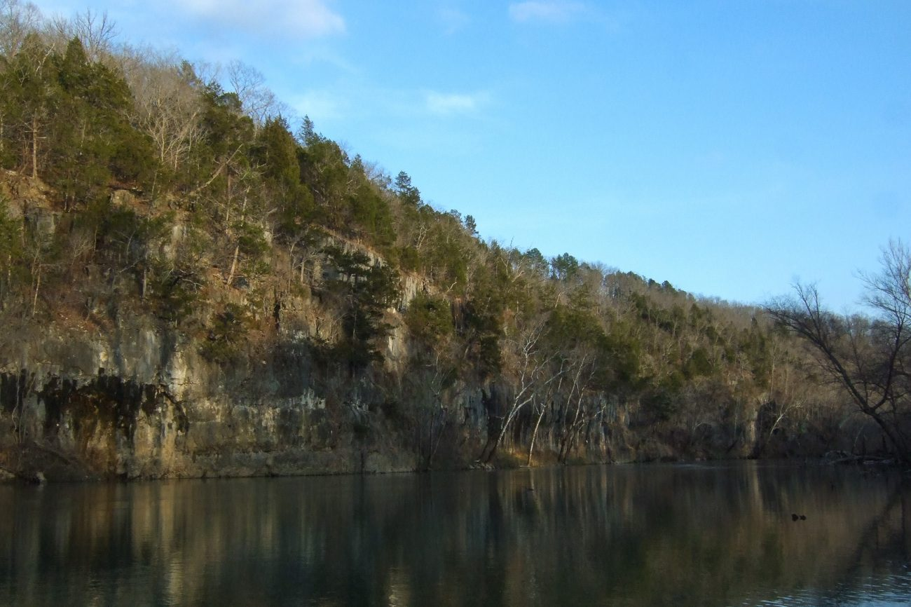 Bluffs on the Meramec River at Meramec State Park, Missouri
