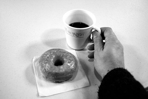 Coffee and a donut at church