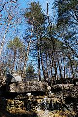 Ephemeral creek and falls at Busiek