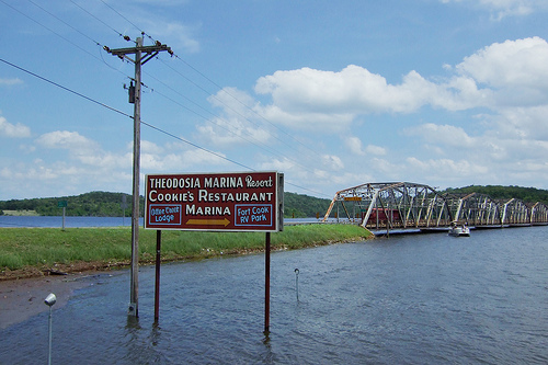Highway 160 Bridge at Theodosia, Missouri