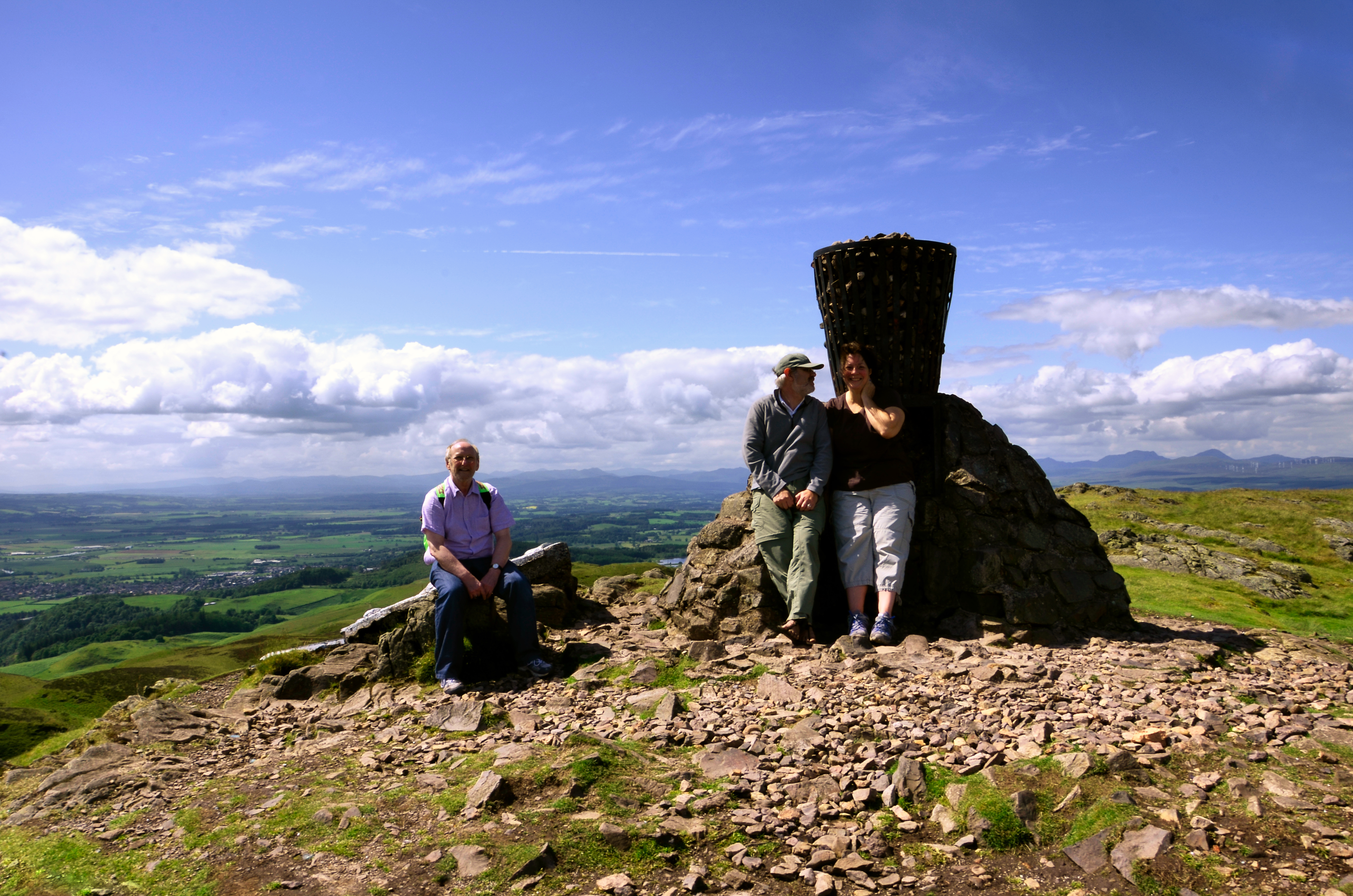 Keith, Gary and Ginger - Dumyat, Stirling, Scotland by Gary Allman