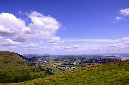 View to the South East from the top of Dumyat
