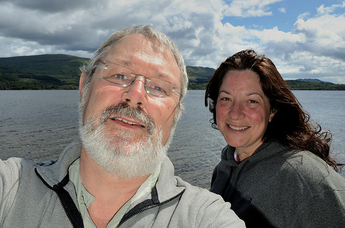 Gary and Ginger at Loch Lomond