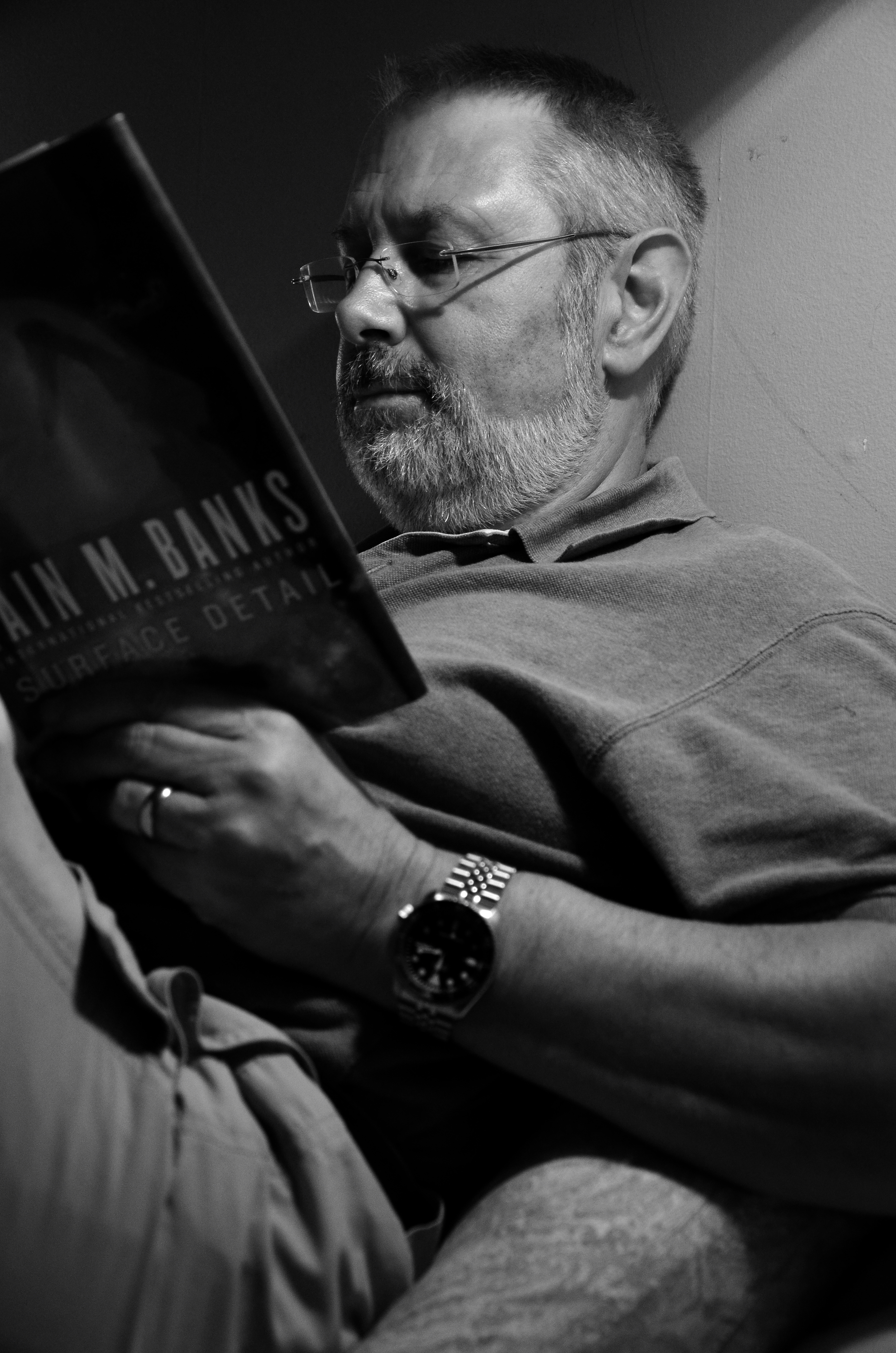 Reading before bed by Gary Allman