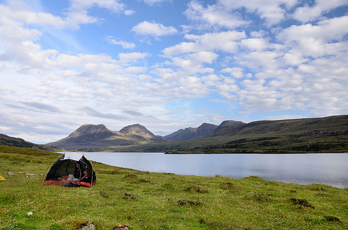 Camped beside Loch Bad a'Ghaill, Inverpolly