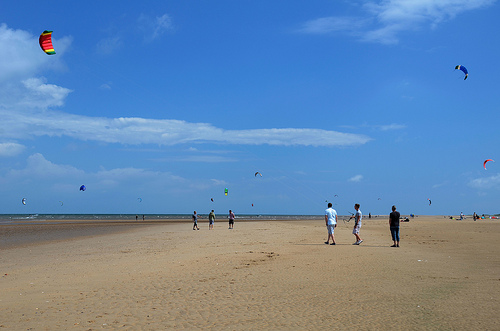 Kite flying on Old Hunstanton Beach