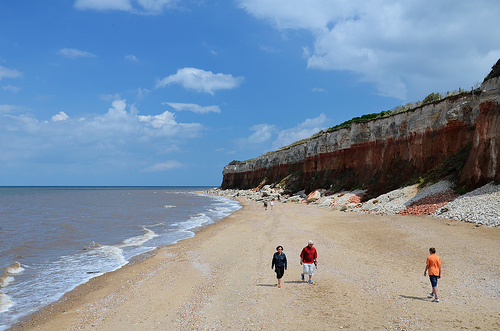 The beach and cliffs at Hunstanton