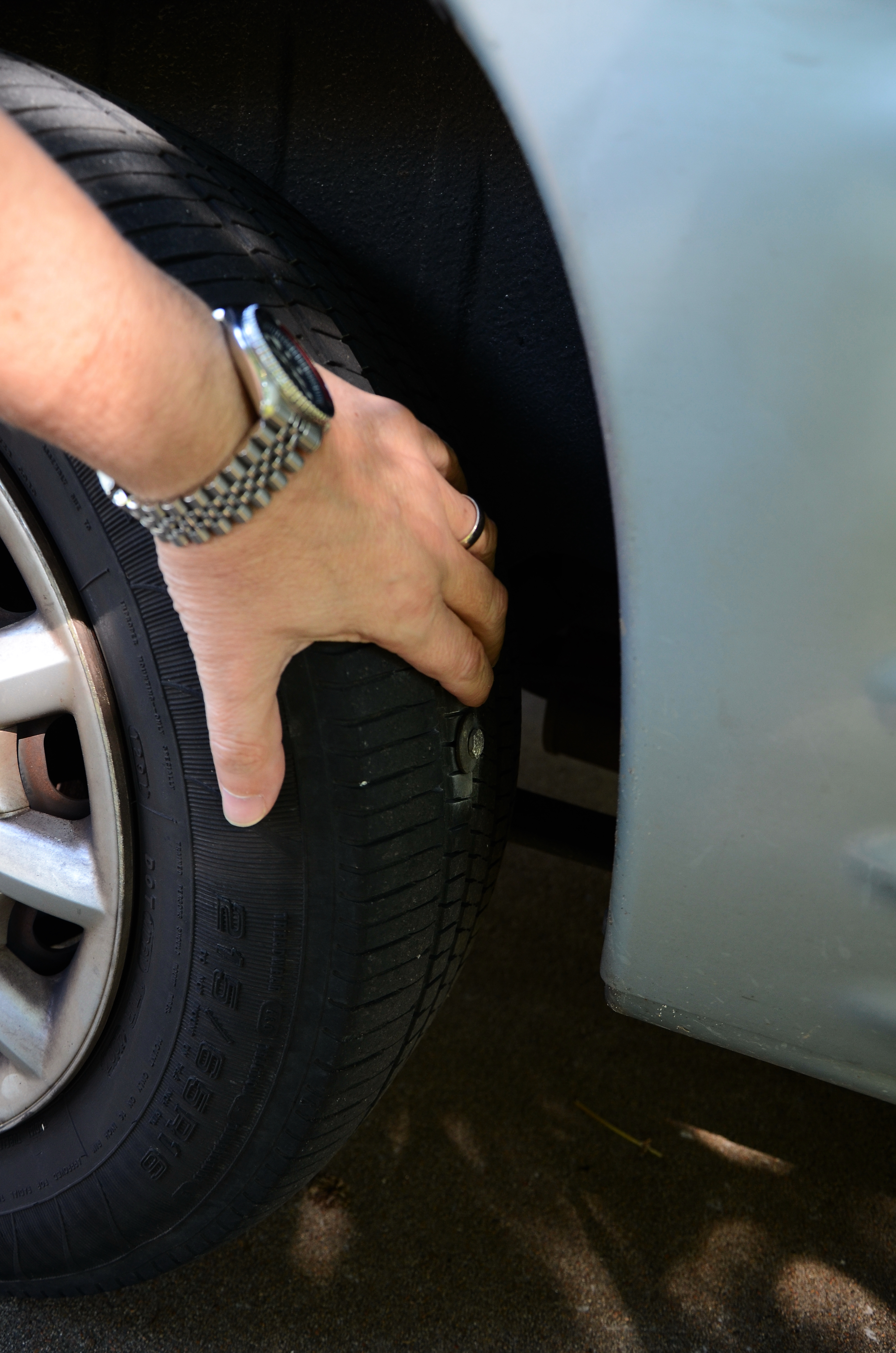 I have a bolt stuck in my tyre by Gary Allman