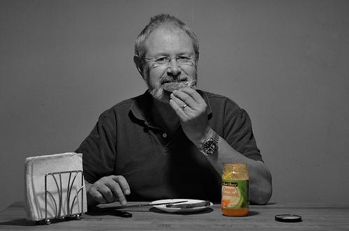 I eat toast and marmalade