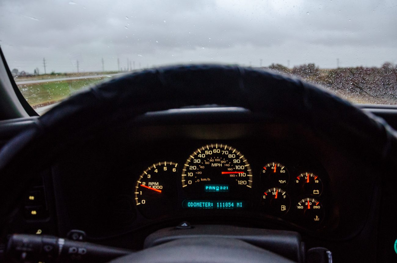 Coming up on 110mph - not quite what it appears
