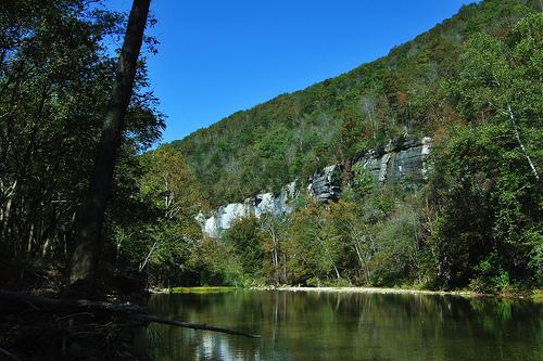 Bluffs on the Buffalo river near Ponca, Arkansas