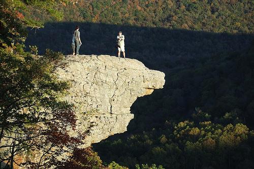 Gary on Hawksbill Crag (Whittaker Point), Arkansas