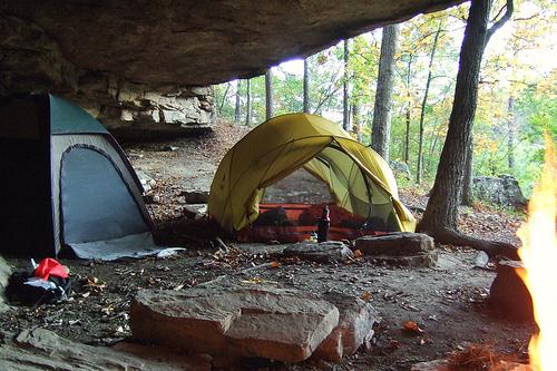 Campsite near Hawksbill Crag, Arkansas