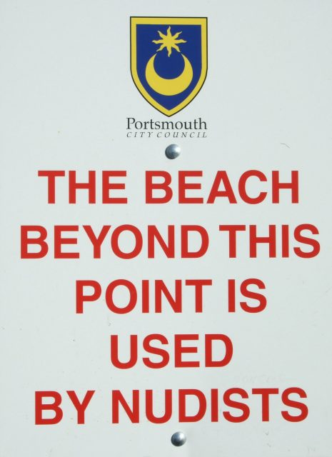 The Beach Beyond this Point is Used by Nudists