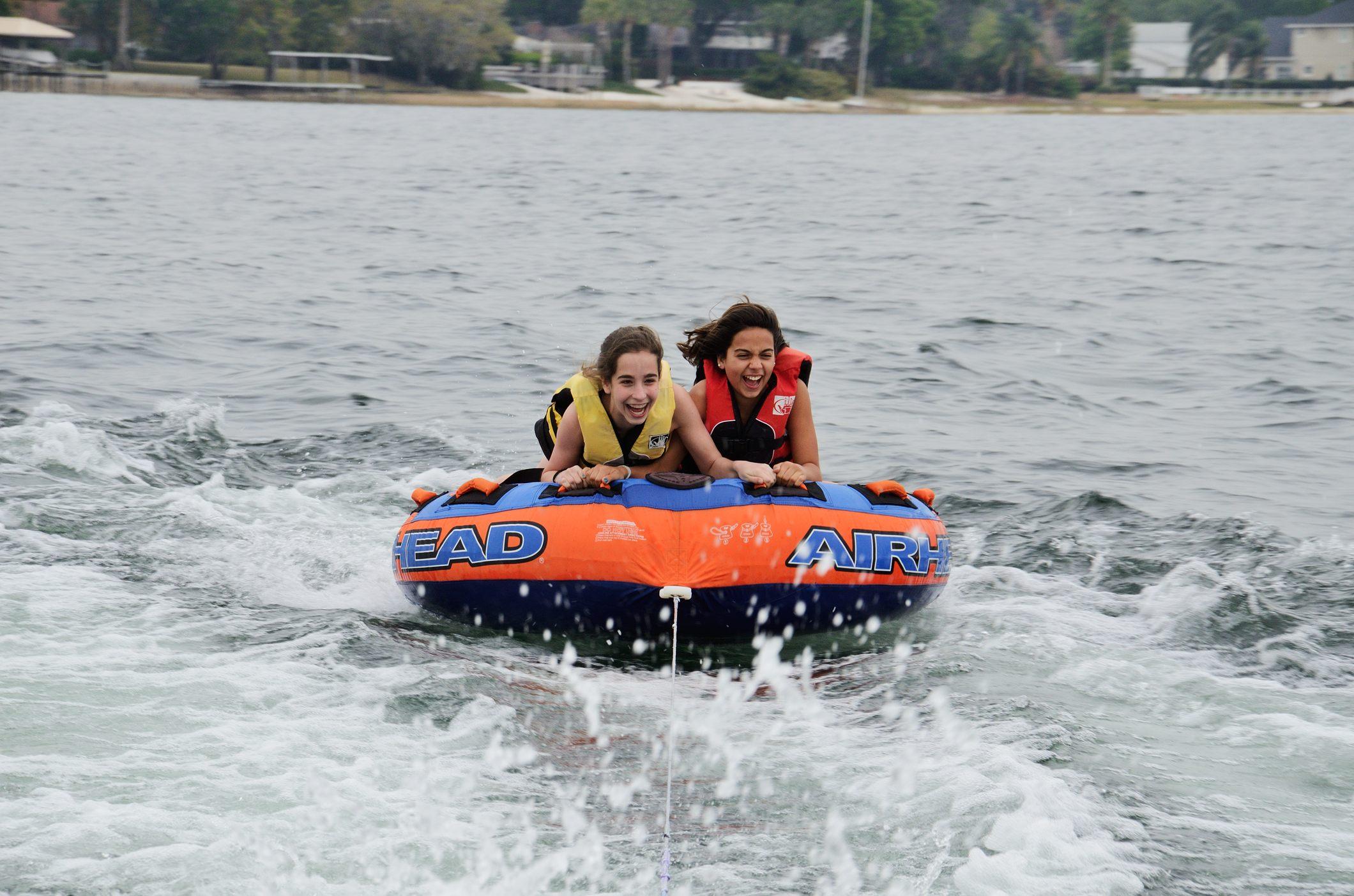 Lanie and Mia on the Lake