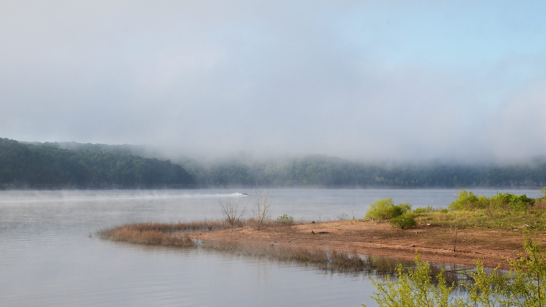 Early Morning mist on the lake - Berry Bend, Truman lake, Missouri