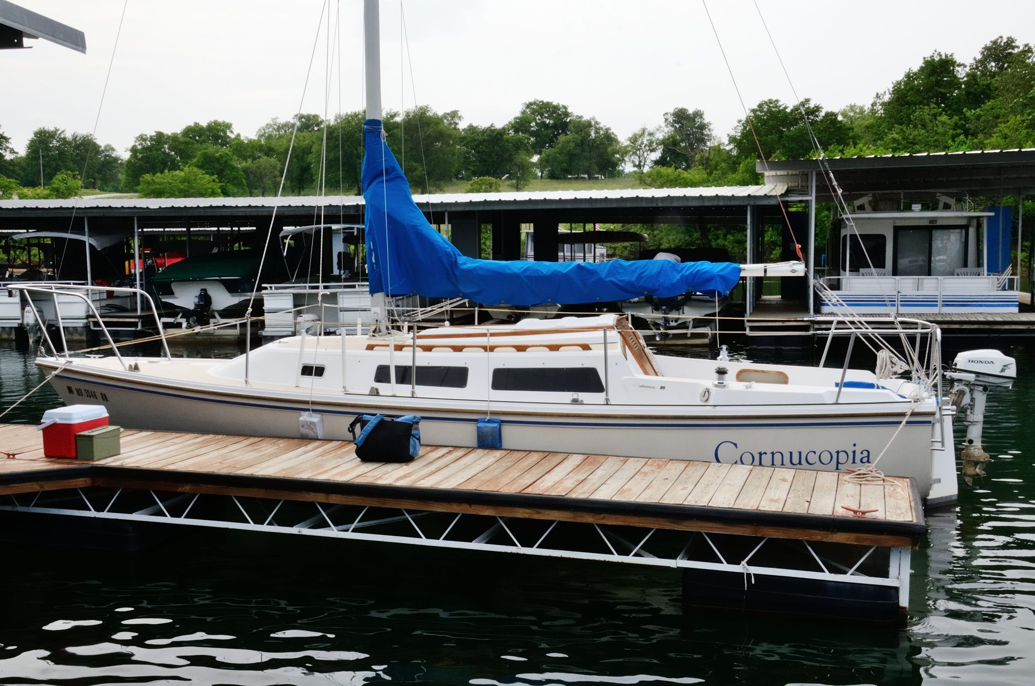 Photograph of the Catalina 25 - Cornucopia At Stockton State Park Marina
