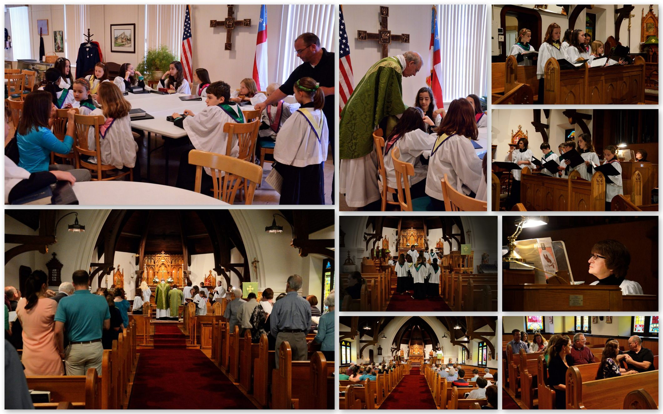 St Cecilia Choir visits St John's Episcopal Church