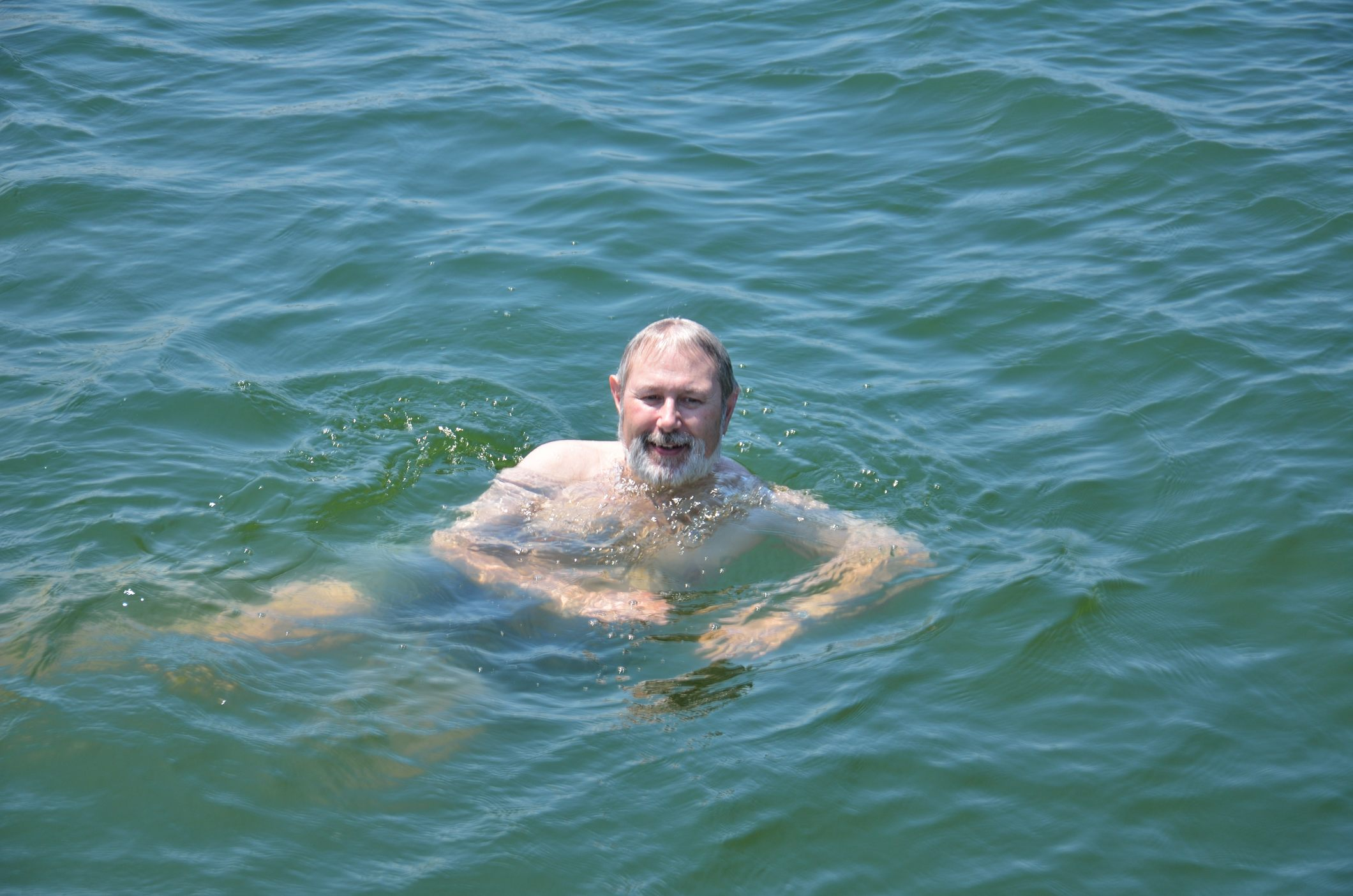 Anchored in Stockton Lake