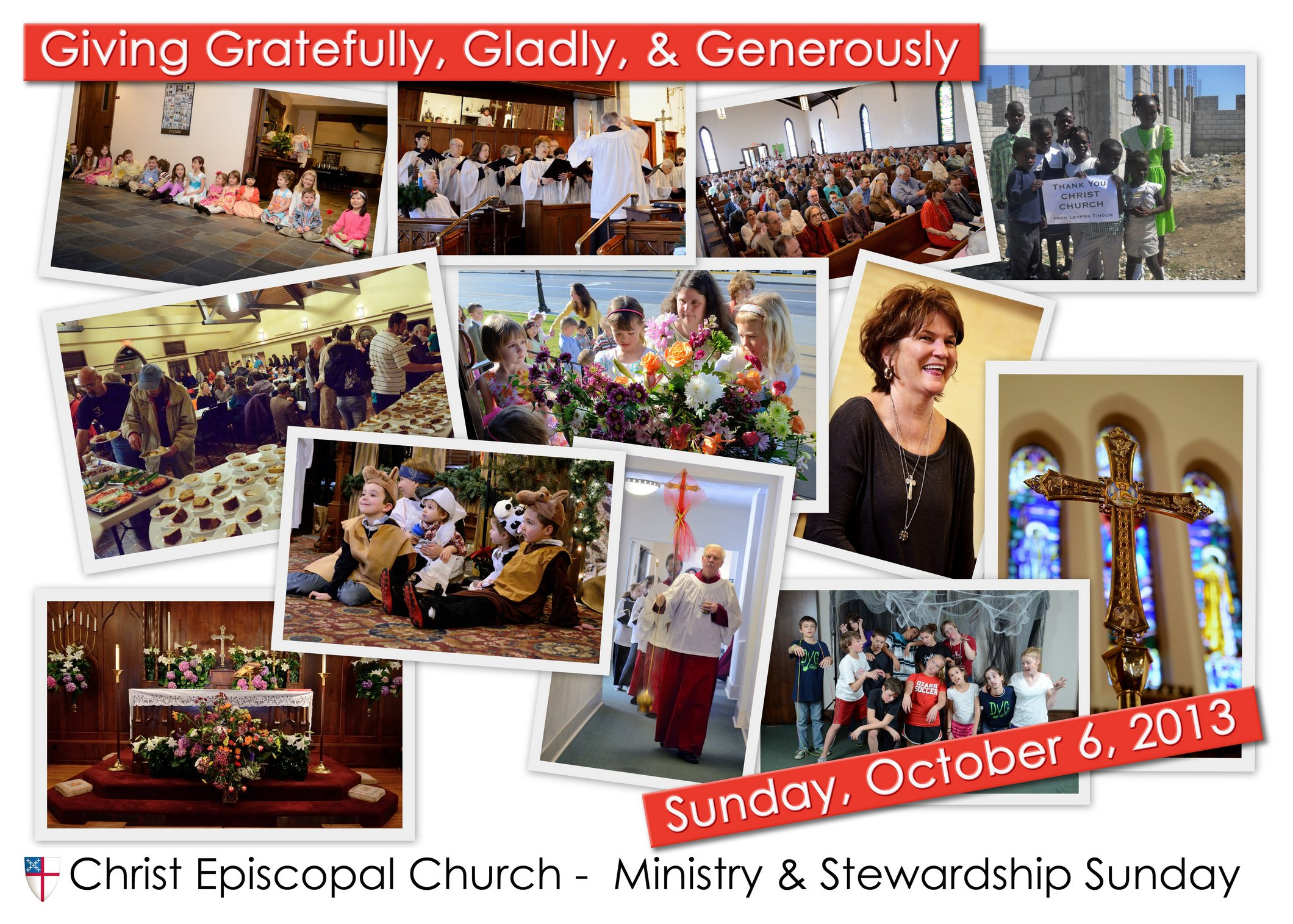 Christ Episcopal Church Ministry and Stewardship Sunday invite - Front