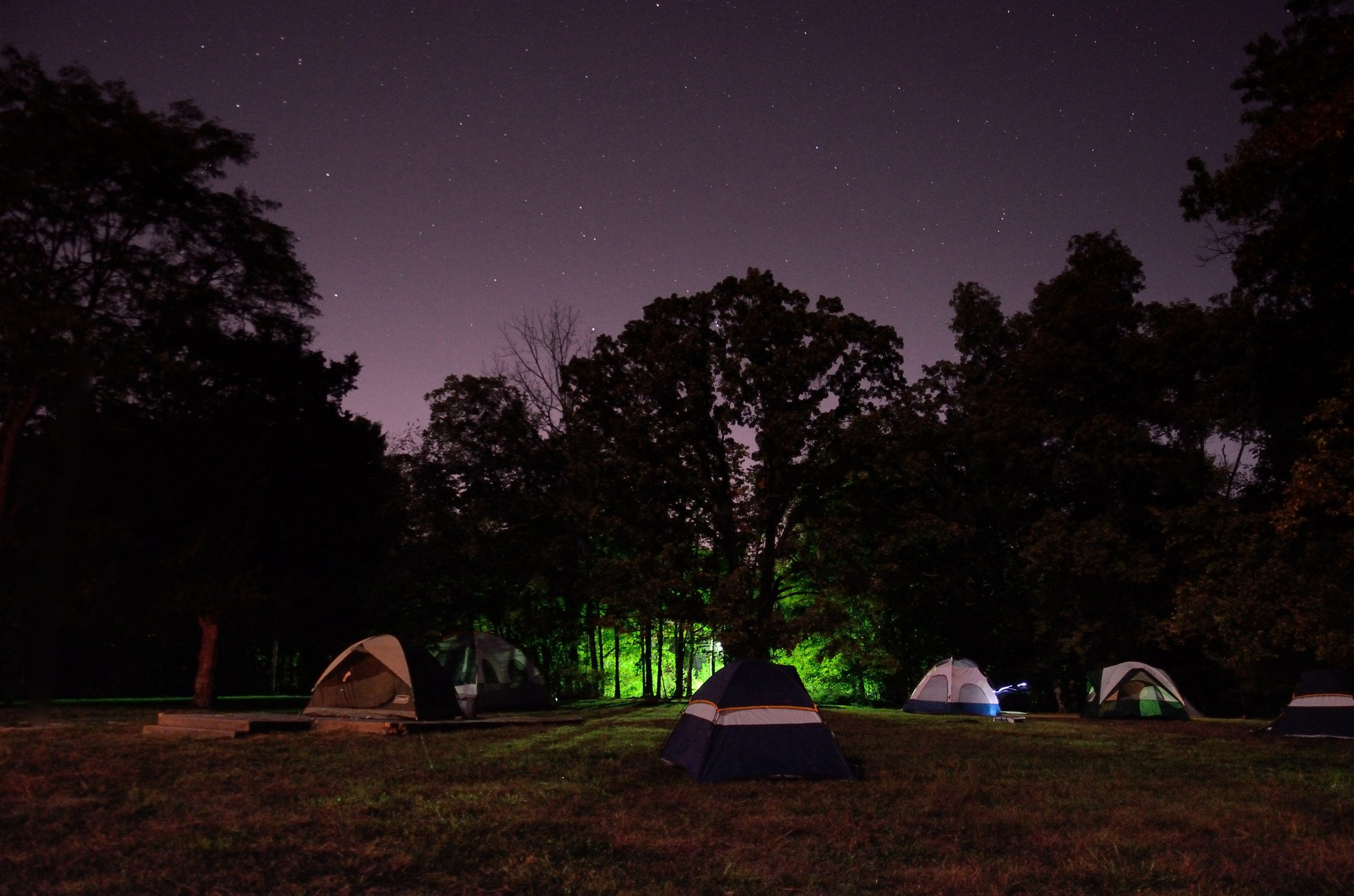 Tents and a glow straight from Stephen King's 'The Tommy Knockers'