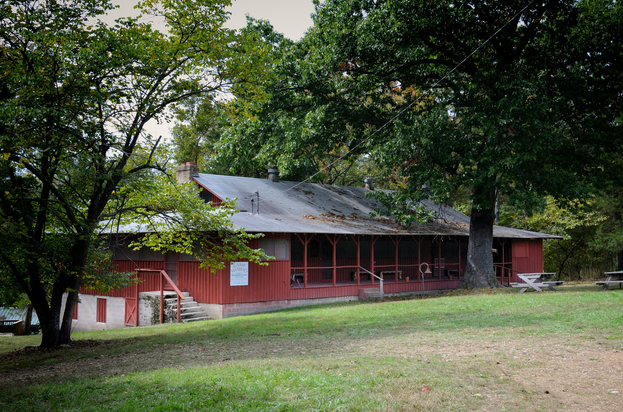 The main building at Camp Shawio