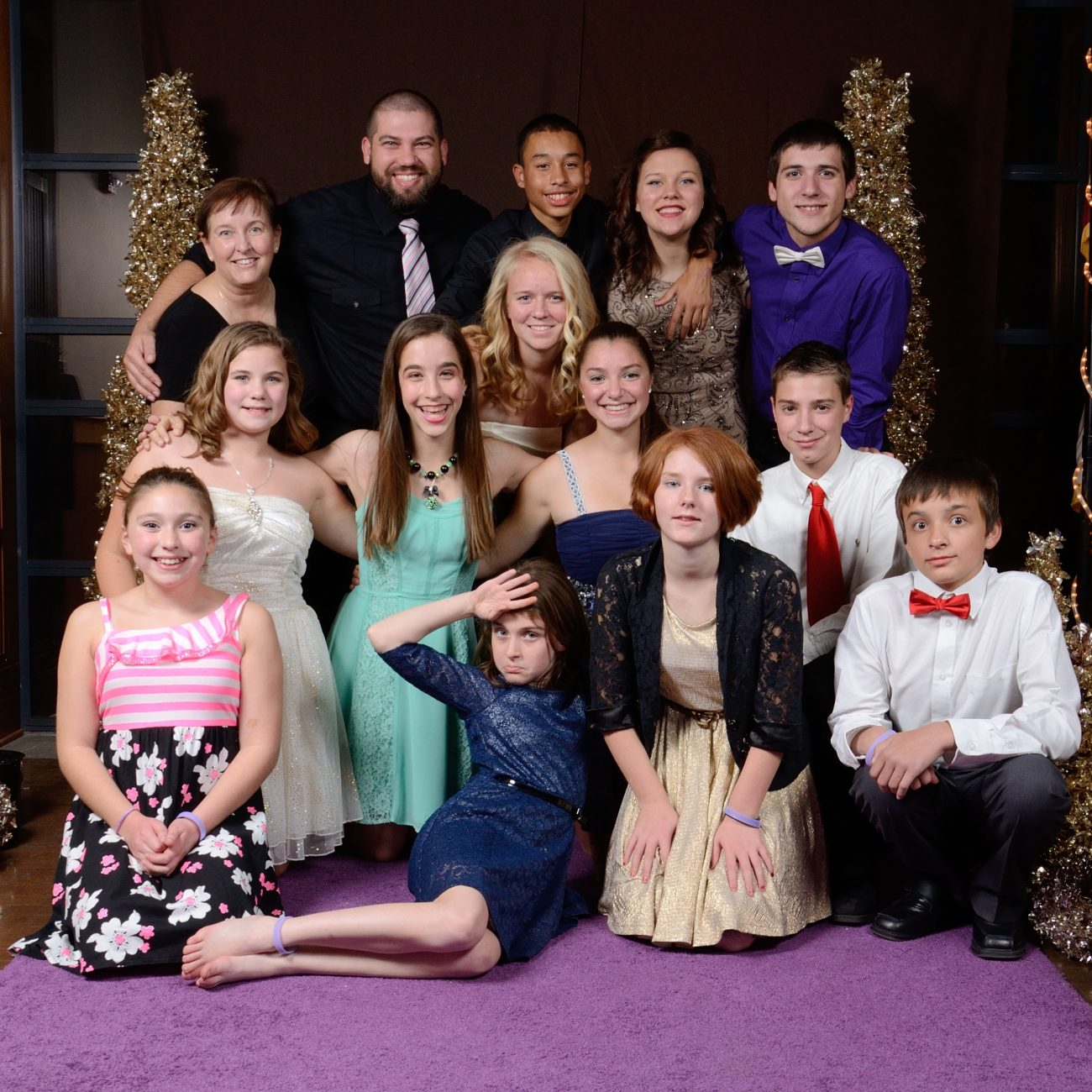 The Christ Episcopal Church Youth Group at the November 2013 Bishop's Ball