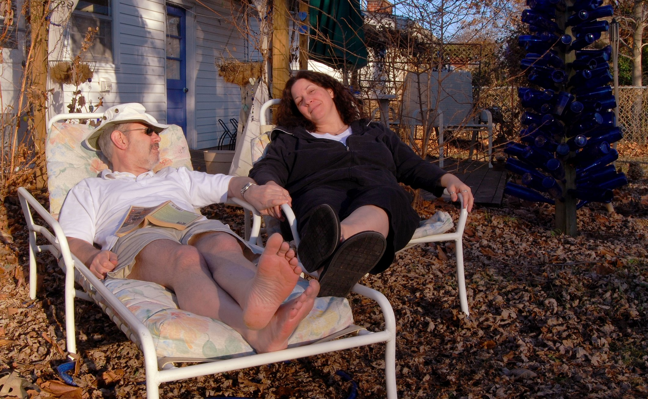 Gary Allman and Ginger Davis enjoying a warm day in January 2009