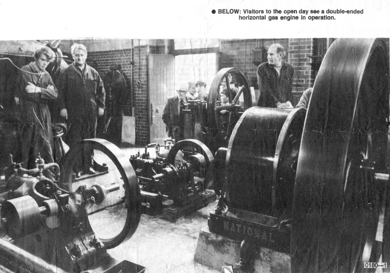 My Father (second from left) at the Eastney Gas Engine House
