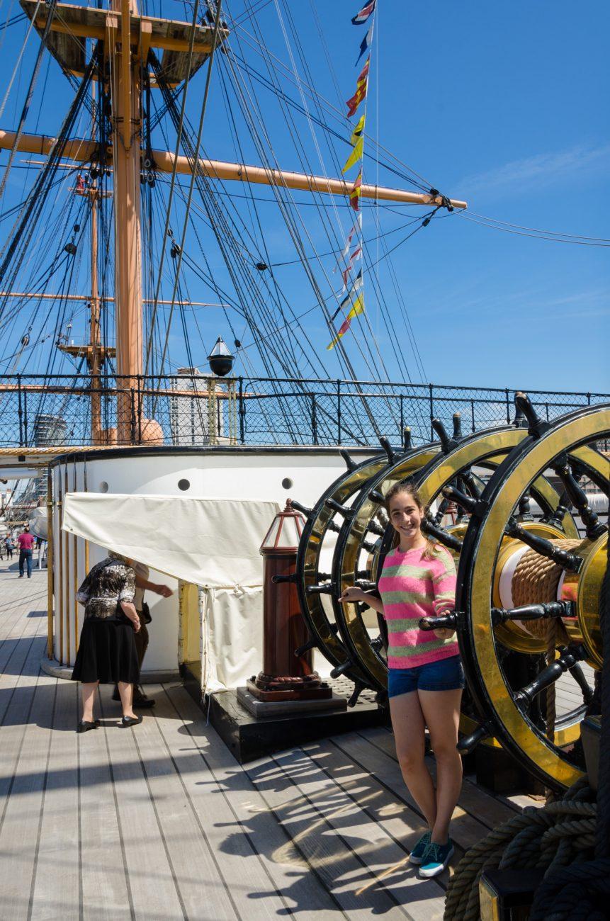 Lanie on HMS Warrior