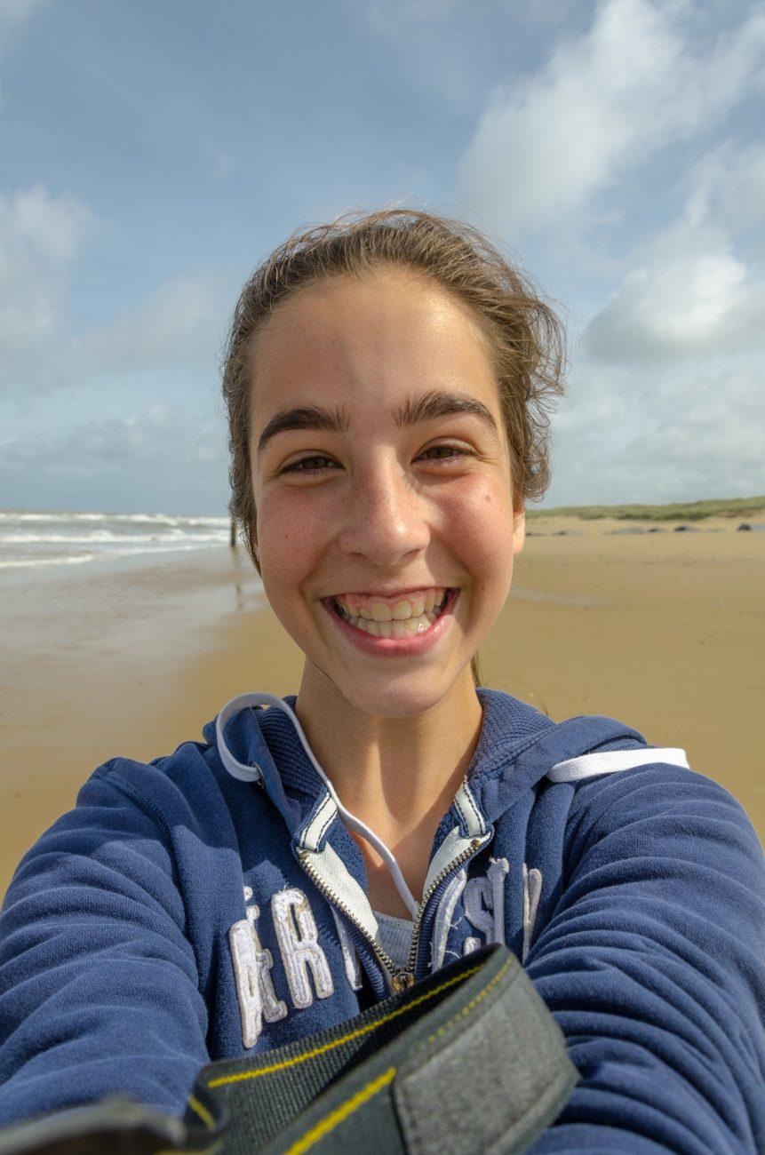 Selfie - Lanie on the beach