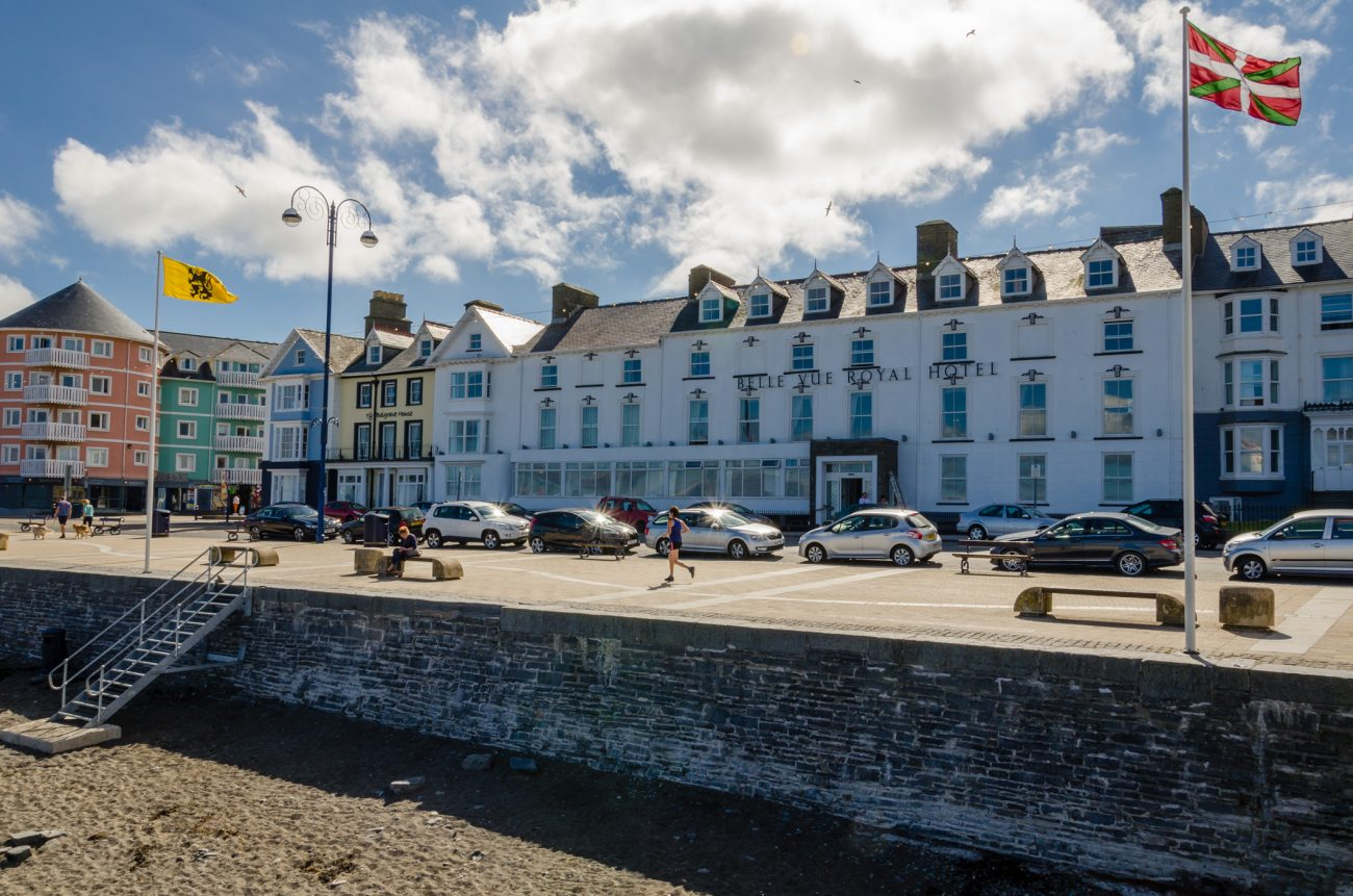 Photograph of the Belle Vue Royal Hotel, Aberystwyth, Wales taken on June 24, 2014
