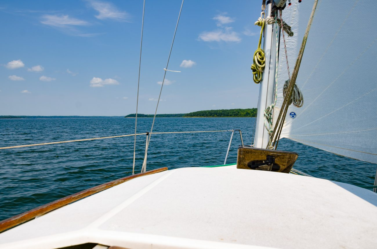 Sailing on Stockton Lake, Missouri