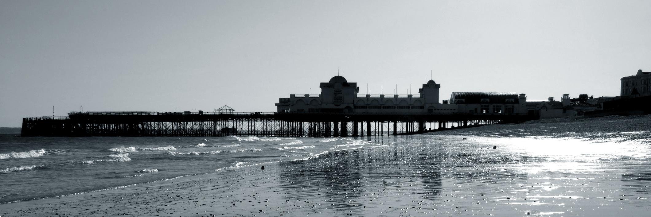 South Parade Pier - Black and White