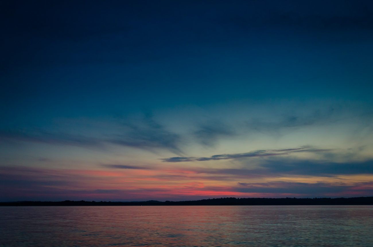 Twilight at Stockton lake