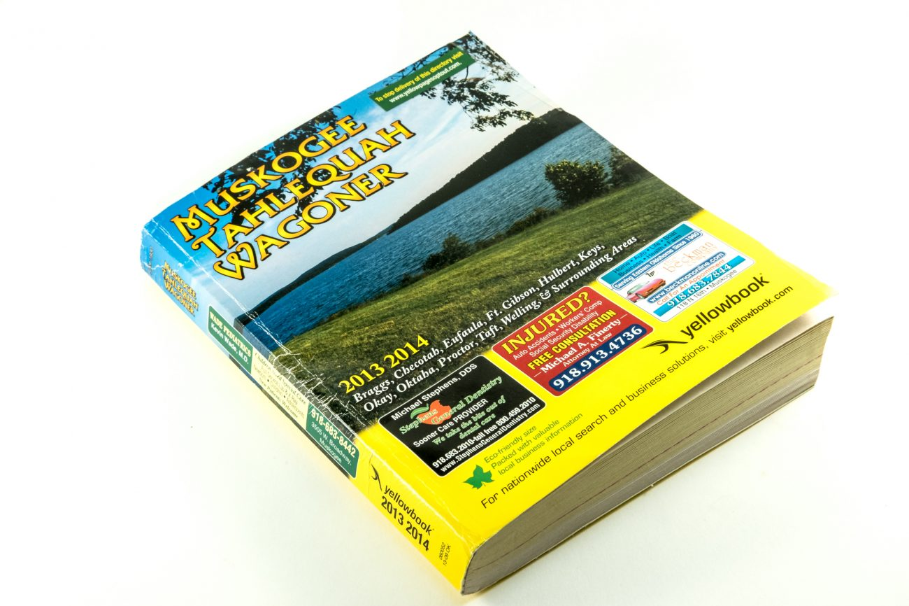 Muskogee/Tahlequah/Wagoner yellow pages cover.