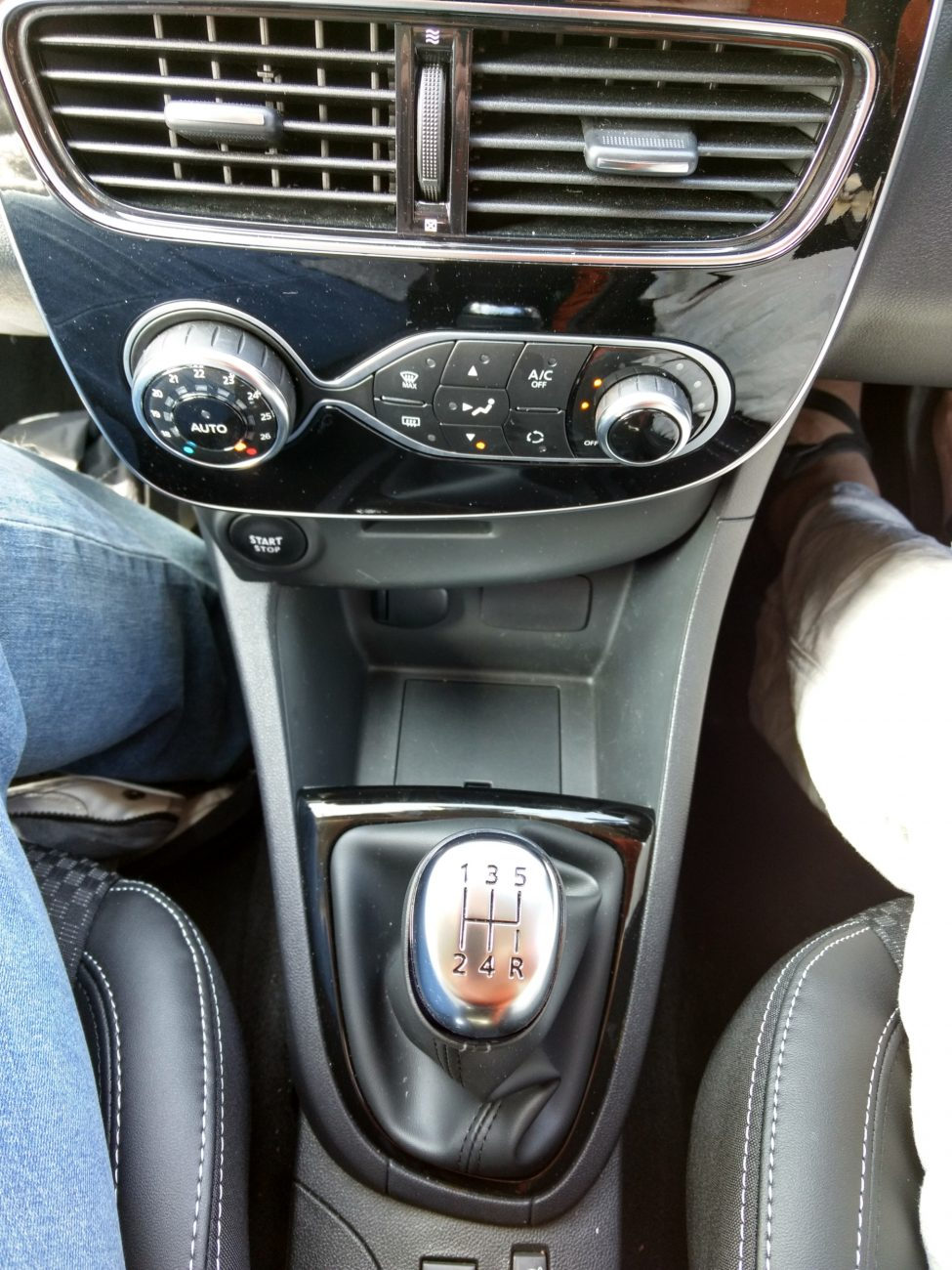 Gear shift lever on a manual transmission vehicle
