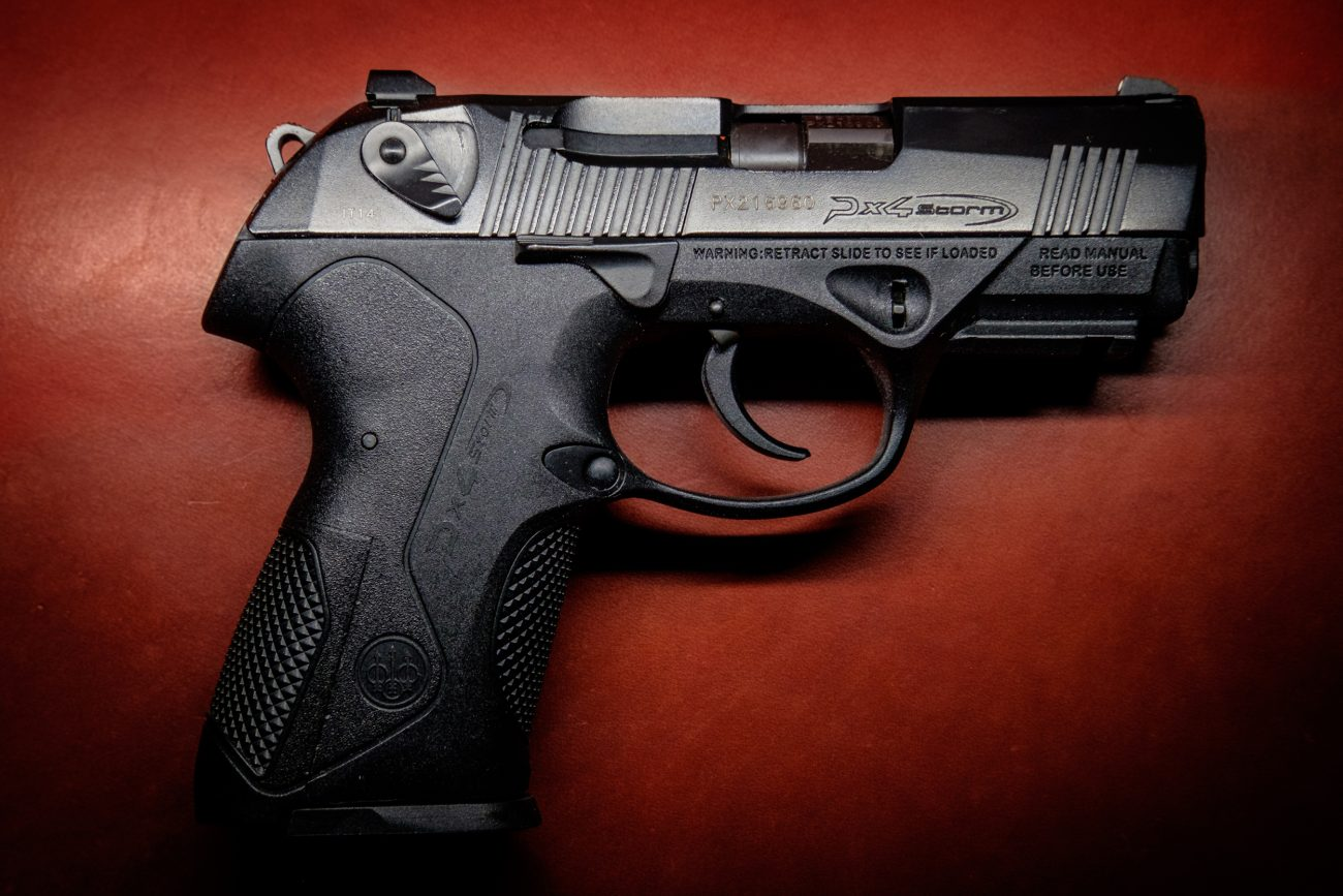 Photograph of a Beretta PX4 Storm 9mm compact handgun