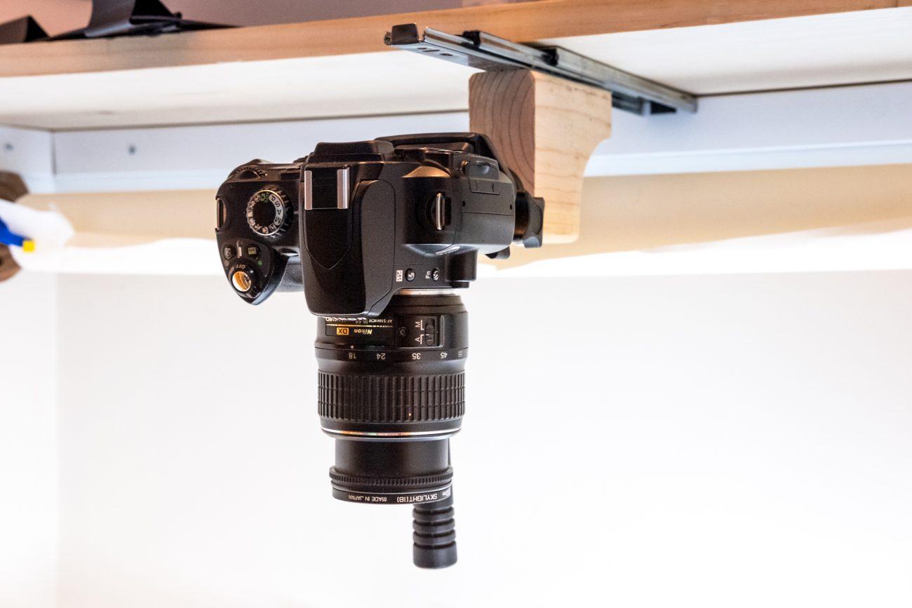 Overhead camera mount