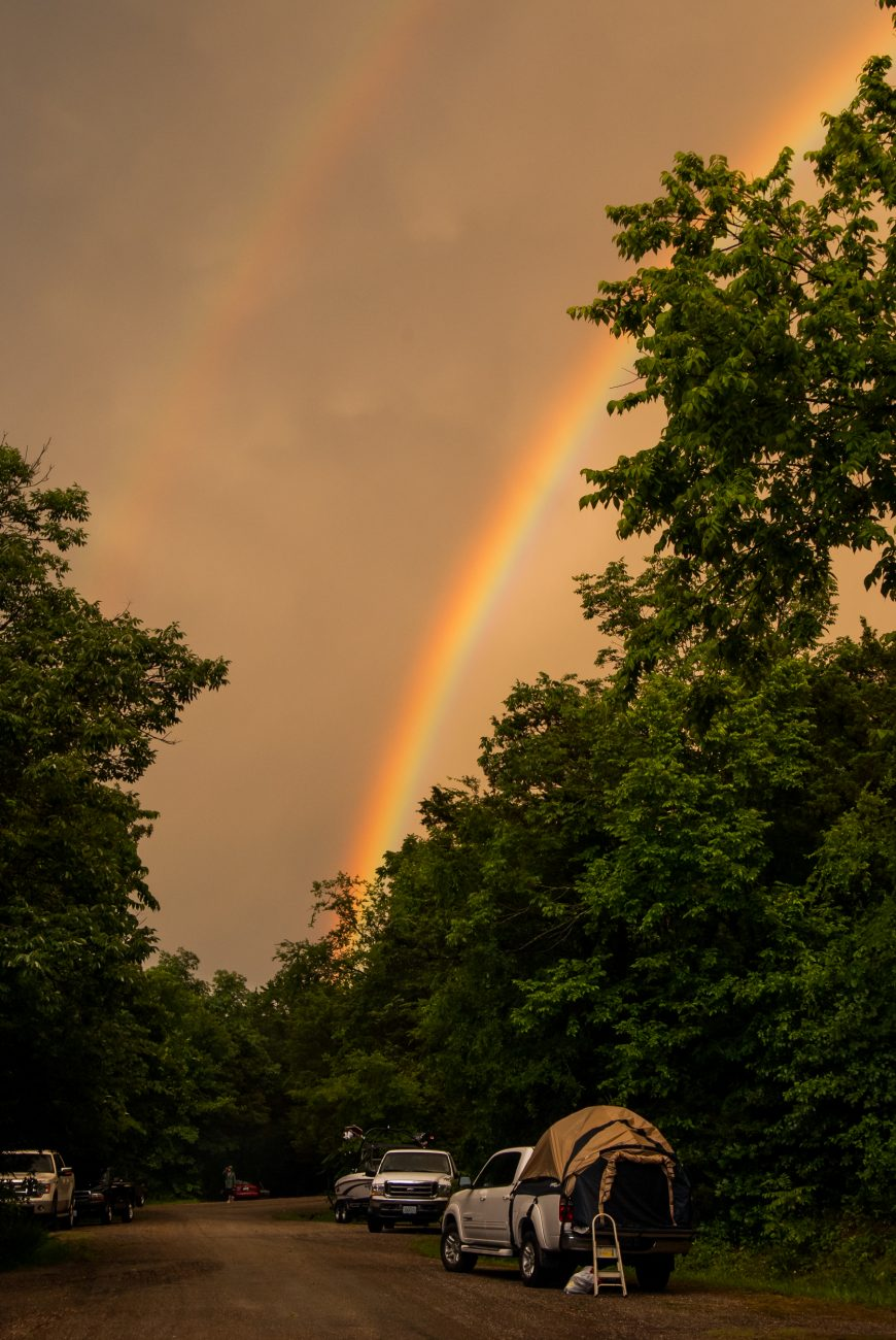 Photograph of a Double Rainbow at Big Bay Campground, Shell Knob, Missouri