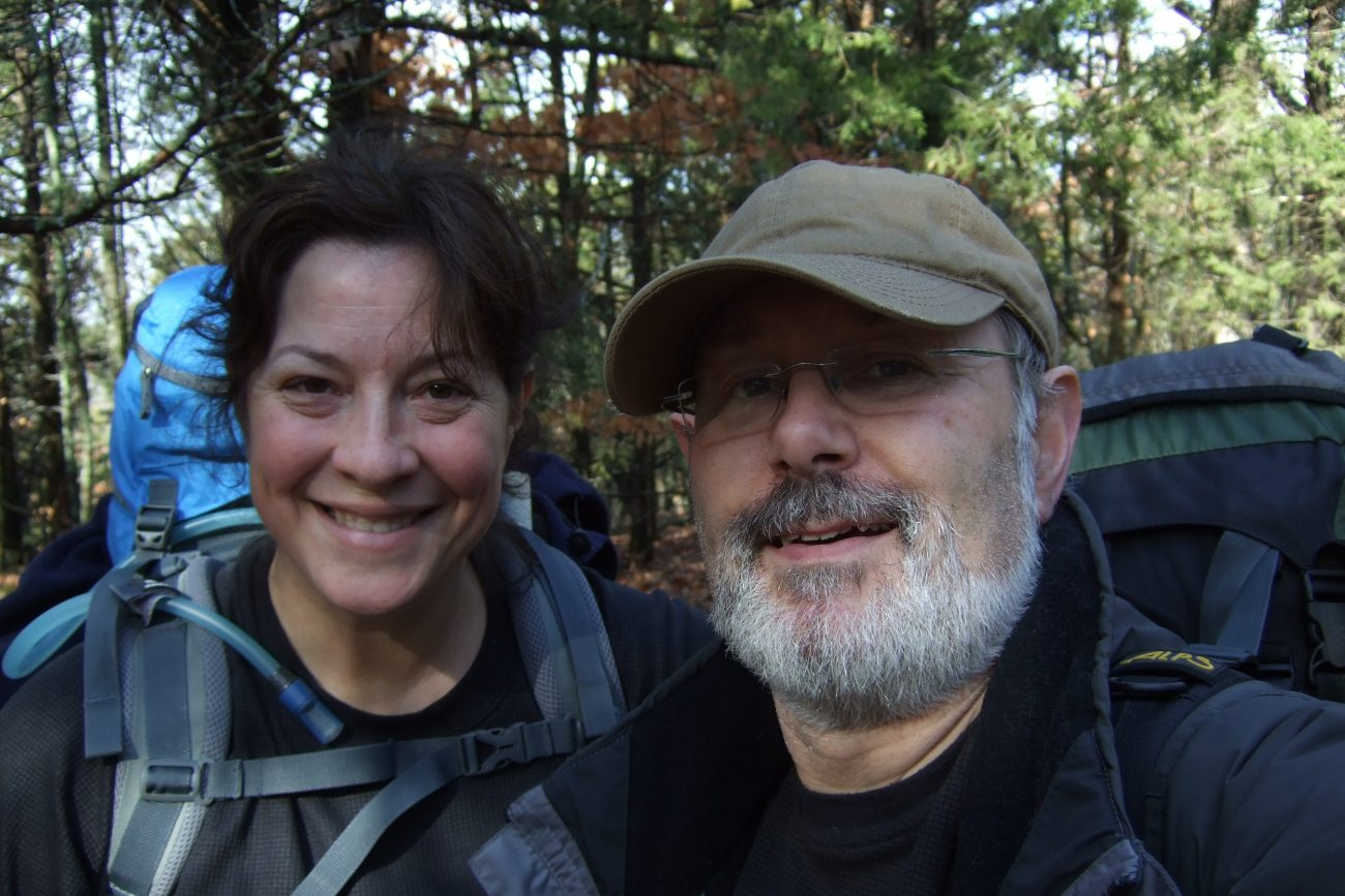 Photograph of Ginger and Gary Allman on the Coy Bald Trail