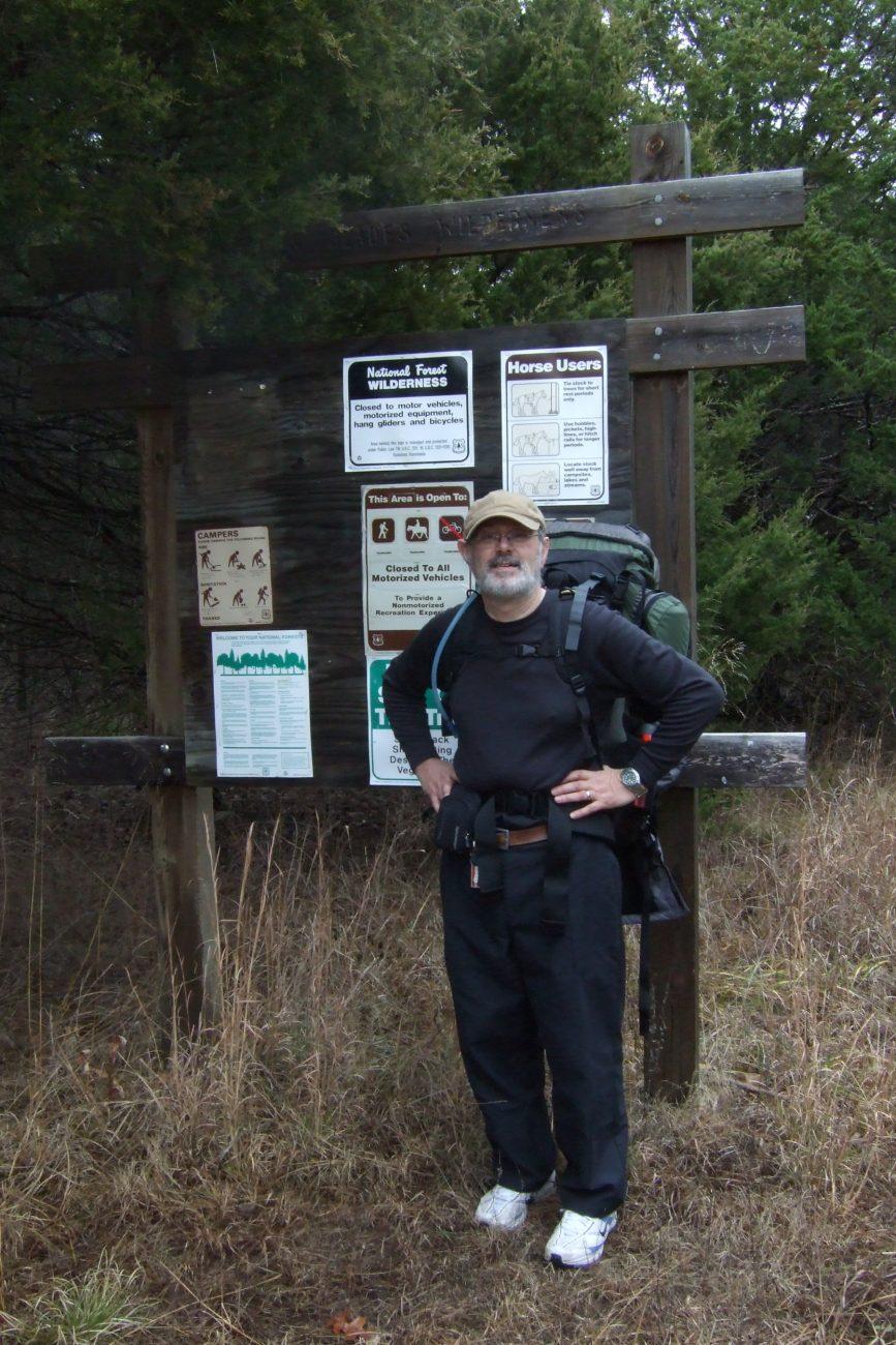 Photograph of Gary Allman at the Coy Bald Trail trailhead