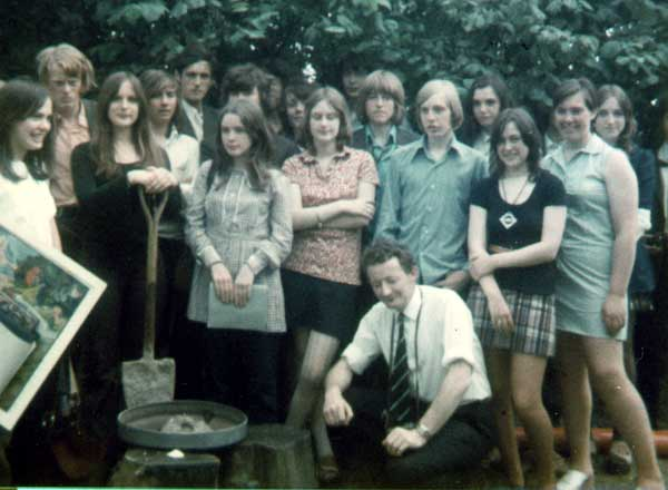 A photograph of the members of Hadham Hall - Form 5T July 1972